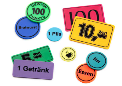 Tokens with standard texts