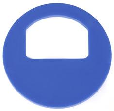 Garderobenmarken - OHNE Nummerierung Blau
