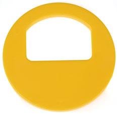 Garderobenmarken - OHNE Nummerierung Gelb