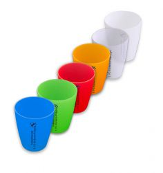 """Mehrweg-Trinkbecher """"0,2 L"""" - mit Druck - ab 100 Stück (Druckfläche: 70 mm hoch x 12 mm breit)"""
