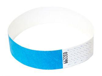 Tyvek®-VIP-Band - mit individuellem Aufdruck/Design (Verpackungseinheit = 10 Stück) Blau