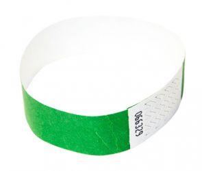 Tyvek®-VIP-Band - ohne Aufdruck Grün | 100er Pack