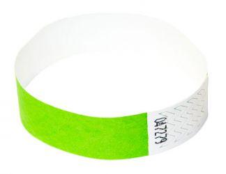 Tyvek®-VIP-Band - ohne Aufdruck Hellgrün | 500er Pack