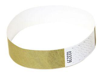 Tyvek®-VIP-Band - mit individuellem Aufdruck/Design (Verpackungseinheit = 10 Stück) Gold
