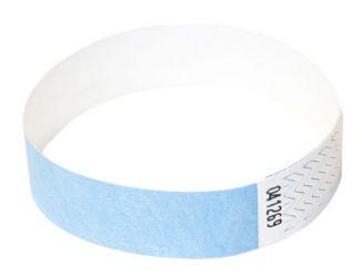 Tyvek®-VIP-Band - mit individuellem Aufdruck/Design (Verpackungseinheit = 10 Stück) Hellblau