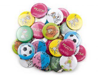 Buttons mit individuellem Design