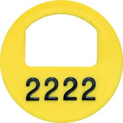 Cloakroom tokens - WITH numbering