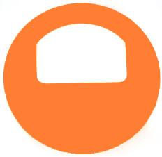 Garderobenmarken - OHNE Nummerierung Neonorange