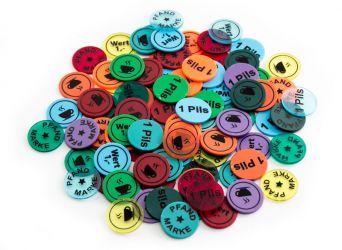 Wertchip Ø 23,3 mm mit Standardtexten Wert-/Pfandmarken | Wertmarke