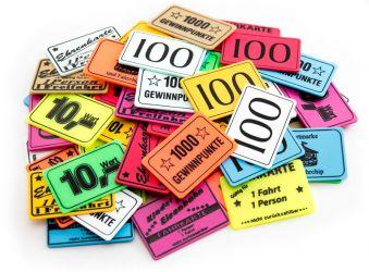 Wertchip 60 x 40 mm mit Standardtexten Fahrchips | Fahrkarte gültig für 1 Kind