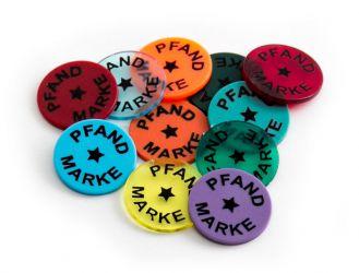Wertchip Ø 23,3 mm mit Standardtexten Wert-/Pfandmarken | Pfandmarke