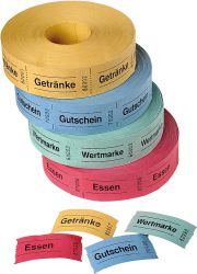Voucher rolls with standard texts
