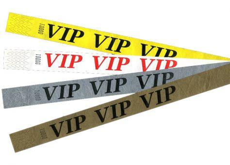 Tystar mit Standarddesign VIP - Gold (Aufdruck Schwarz) | 10er Pack