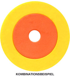 Chip/Ring-Kombination Ø 38 mm mit Ø 23 mm Innenchip
