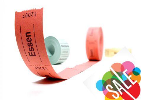 Rollengutscheine mit Standardtext 500er Rollen Wertmarke (Papierfarbe: Orange)